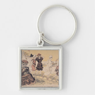 Bathers, from L'Assiette au Beurre Key Ring