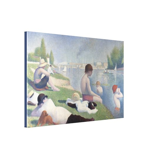 Bathers in Asnieres by Georges Seurat Canvas Print