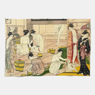 Bathhouse 1780 tea towel
