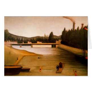 Bathing at Alfortville by Henri Rousseau Card