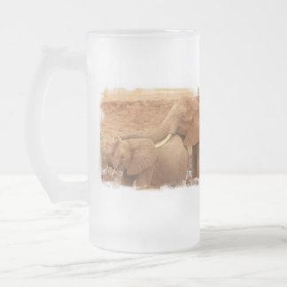 Bathing Baby Elephant  Frosted Mug