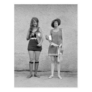 Bathing Beauty Contest, 1922 Postcard