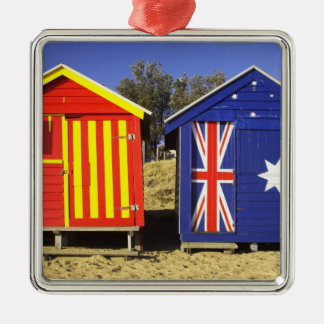 Bathing Boxes, Middle Brighton Beach, Port 2 Christmas Ornament