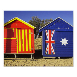 Bathing Boxes, Middle Brighton Beach, Port 2 Poster