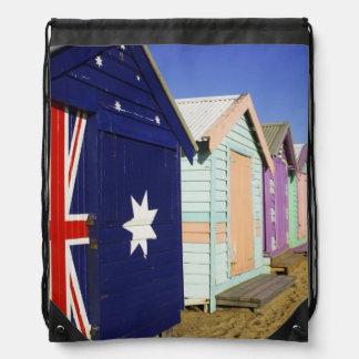 Bathing Boxes, Middle Brighton Beach, Port Drawstring Bag