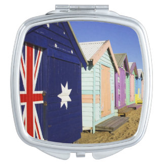 Bathing Boxes, Middle Brighton Beach, Port Mirror For Makeup