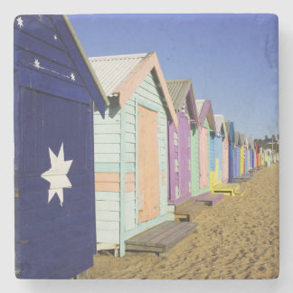 Bathing Boxes, Middle Brighton Beach, Port Stone Coaster