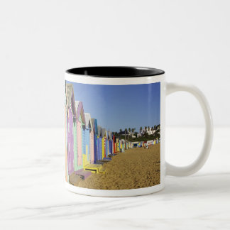 Bathing Boxes, Middle Brighton Beach, Port Two-Tone Coffee Mug