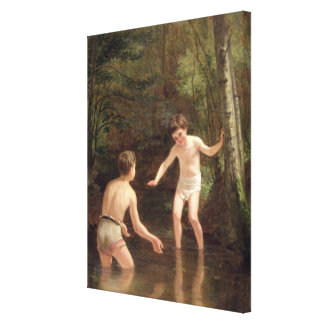 Bathing Boys, 1873 Canvas Print