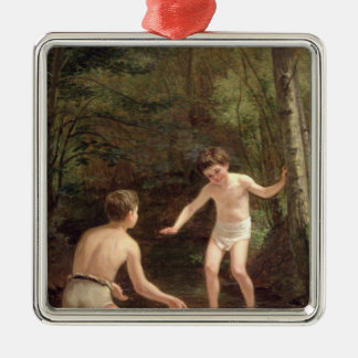Bathing Boys, 1873 Christmas Ornament