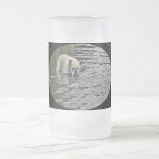 Bathing Bulldog Frosted Glass Beer Mug