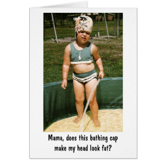 Bathing Cap Card