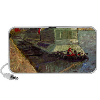 Bathing Float on the Seine at Asniere by Van Gogh. Travelling Speakers