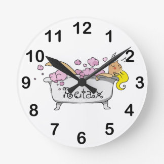 bathing girl wall clocks
