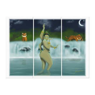 Bathing Goddess Canvas Print