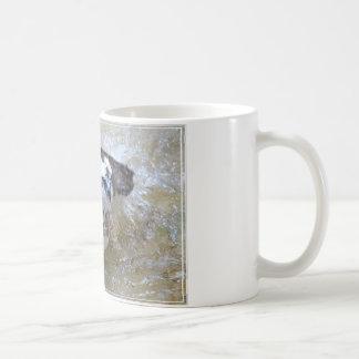 Bathing Osprey Basic White Mug