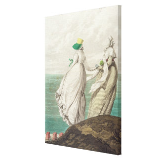 Bathing Place, from 'Gallery of Fashion', 1797 (co Canvas Print
