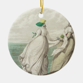 Bathing Place, from 'Gallery of Fashion', 1797 (co Round Ceramic Decoration