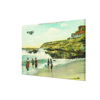Bathing Scene at La Jolla BeachSan Diego, CA Canvas Print