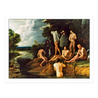 Bathing Scene by Michael Sweerts Postcard