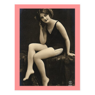 Bathing Suit Model Postcard