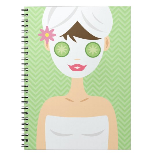 Bathing Woman With A White Face Mask Notebooks