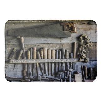 Bathmat antique wood tools bath mats