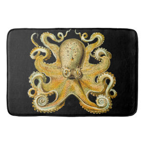 Bathmat black  Gold Octopus