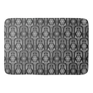 Bathmat retro black whte grey