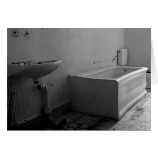 Bathroom (Black and white) Note Card