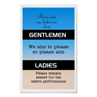 Bathroom Etiquette Posters