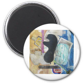 Bathroom Objects 6 Cm Round Magnet