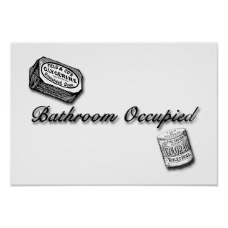 Bathroom Occupied Sign Poster