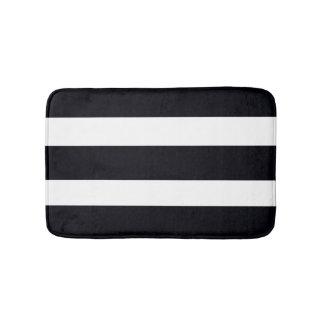 BATHROOM RUGS & MATS Bath Mat Black White Stripes Bath Mats