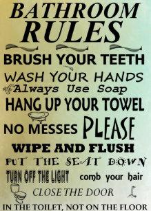 Bathroom Rules Posters & Prints   Zazzle UK