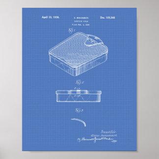 Bathroom Scale 1938 Patent Art Blueprint Poster