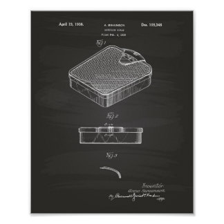 Bathroom Scale 1938 Patent Art Chalkboard Poster