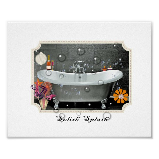 Bathroom Wall Decor Vintage Inspired Art Print