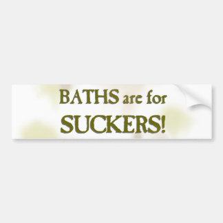 Baths are for suckers car bumper sticker