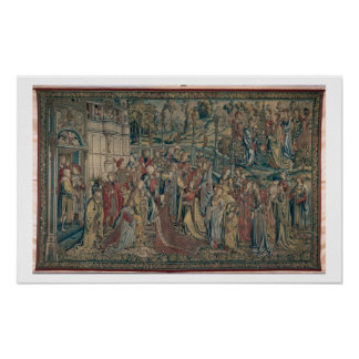 Bathsheba ordered to the Palace, Tapestry of David Poster