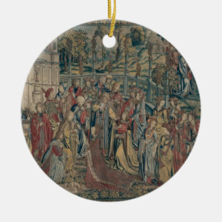 Bathsheba ordered to the Palace, Tapestry of David Round Ceramic Decoration