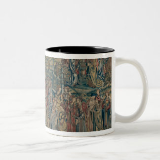 Bathsheba ordered to the Palace, Tapestry of David Two-Tone Coffee Mug