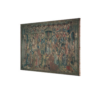 Bathsheba Welcomed at Court, Tapestry of David and Canvas Print