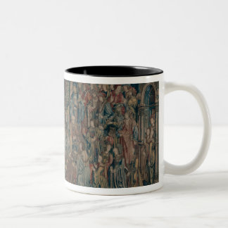 Bathsheba Welcomed at Court, Tapestry of David and Two-Tone Coffee Mug