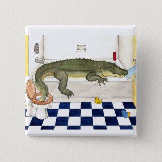 Bathtub Alligator 15 Cm Square Badge