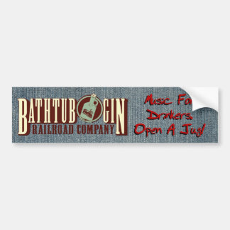 Bathtub Gin Railroad Company Drinkers Sticker