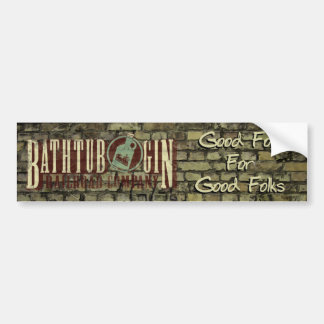 Bathtub Gin Railroad Company Good Folk Sticker Bumper Sticker