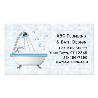 Bathtub, Shower, Tiles Pack Of Standard Business Cards