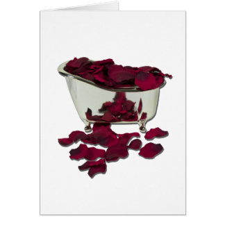 BathtubFilledWithPetals100711 Greeting Card