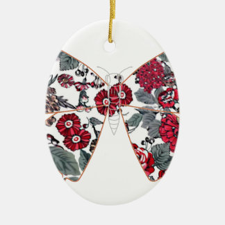 batik and butterfly no.1 ceramic oval decoration